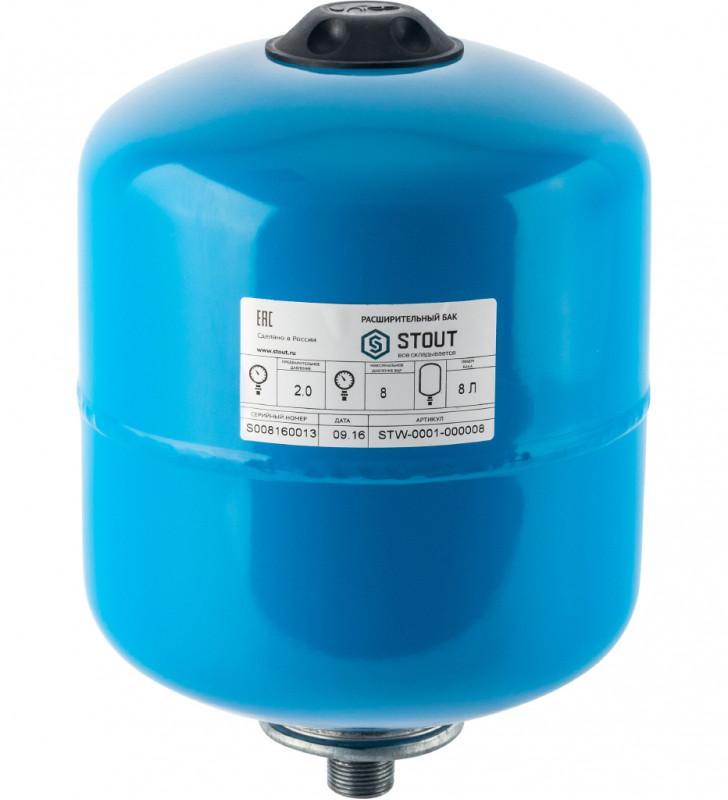 Гидроаккумулятор Stout STW-0001-000008 вертикальный