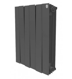 Биметаллический секционный радиатор Royal Thermo PianoForte Noir Sable 500 / 6 секций