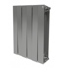Биметаллический секционный радиатор Royal Thermo PianoForte Satin Silver 500 - 6 секций