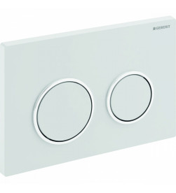 Кнопка смыва Geberit Omega20 двойной смыв. рамка, к 111.003/030/060 кнопка бел/обод кнопки хром 115.085.KJ.1