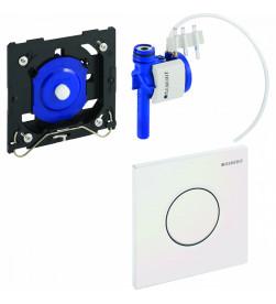 Система пневматического управления смывом писсуара Geberit Sigma01 HyTroniс хром глянец