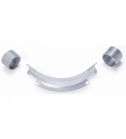 Отвод Rehau направляющий с кольцами 90, 32