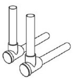 SLHK-Патрубок TECE с запорными вентилями, латунный