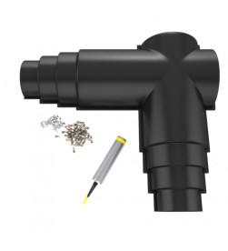 Изолирующий элемент Thermaflex угловой (ППУ теплоизоляция, герметик и элементы крепления идут в комплекте) FV-W125-200/90HS-R