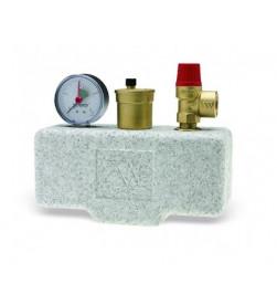 Группа безопасности котла Stout (до 100 кВт) (в теплоизоляции), SVS-0004-031025