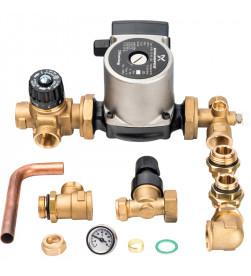 Комплект для насосной группы Stout с термостатическим клапаном и байпасом; Grundfos UPSO 25-65 130, SDG-0020-002002