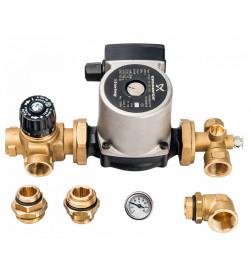 Комплект для насосной группы Stout с термостатическим клапаном; Grundfos UPSO 25-65 130, SDG-0020-001002