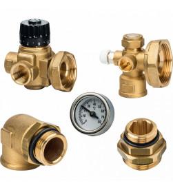 Комплект для насосной группы Stout с термостатическим клапаном, без насоса, SDG-0020-001000