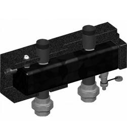 Гидрострелка Meibes для настенных коллекторов до 125 кВт (?Т=25К), м/о 200 мм