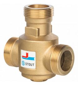 Клапан смесительный Stout Stout термостатический G 1 1/4 НР 70С, SVM-0030-325508