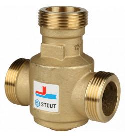 Клапан смесительный Stout Stout термостатический G 11/4 НР 60С, SVM-0030-325506
