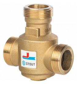 Клапан смесительный Stout Stout термостатический G 1 1/4 НР 55С, SVM-0030-325504
