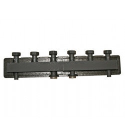 Коллектор Stout стальной распределительный 2 отопительных контура с гидравлическим разделителем DN 25, SDG-0018-0040