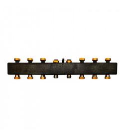 Настенный распределительный коллектор Meibes ME 66301.4 на 4 – 7 отопительных контуров