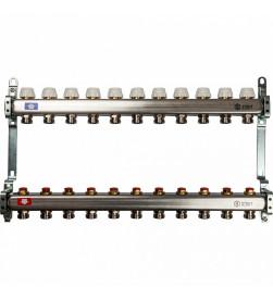 Коллектор Stout из нержавеющей стал с запорными клапанами 1/3/4x11, SMS 0922 000011
