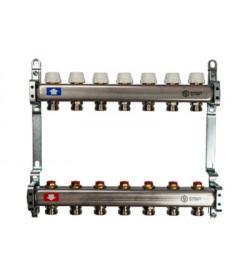 Коллектор Stout из нержавеющей стал с запорными клапанами 1/3/4x2, SMS 0922 000002